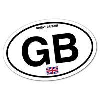 Great Britain GB Country Code Sticker Flag Bumper Water Proof Vinyl #5121EN