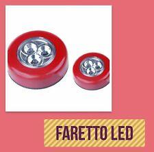 Faretto Led - Colore rosso - Di qualità 100% nuovo - Accensione a pressione