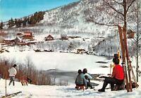 Cartolina Reggio Emilia Appennino Lago di Cerreto sciatori 1966