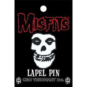 Misfits Skull metal / enamel pin badge. Licensed 30mm x 20mm (cv)