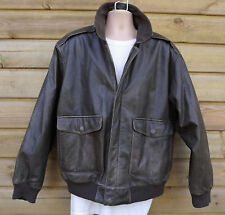 Orvis Distressed Brown Leather A2 Flying Jacket - L