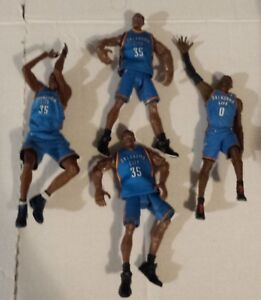 Kevin Durant Russell Westbrook Oklahoma City Thunder NBA Lot of 4 figures Loose