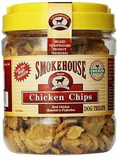 Smokehouse 100-Percent Natural Chicken Chips Dog Treats, 1-Pound, New