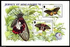 """Jersey - """"BUTTERFLIES ~ JERSEY AT SINGAPORE '95"""" MNH Miniature Sheet MS !"""