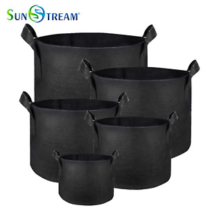 SunStream Heavy Duty Thickened Nonwoven Fabric Pots Grow Bags with Handles