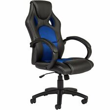 Executive Racing Gaming Office Chair PU Leather Swivel Computer Desk High-Back~