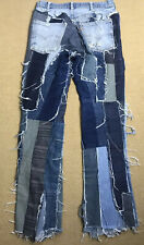Vintage Orange Tab Levis 1970's ? Patchwork Mismatched Denim 30x32 30 X 32 RARE!