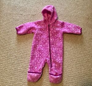 Columbia Cuddle Fleece Bunting Snow Suit Infant Size 3-6 months Pink
