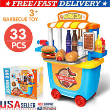 Kids Pretend Play Toys Set Outdoor BBQ Grill Cooking Playset Toy For Boys Gift