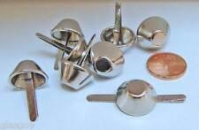 8 PIEDS cone plat Boite ou sac à main argenté 23x15mm Cartonnage Maroquinerie
