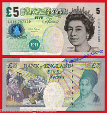 GRAN BRETAÑA GREAT BRITAIN 5 Pounds libras 2002 (2012) SIGN Salmon Pick 391d UNC