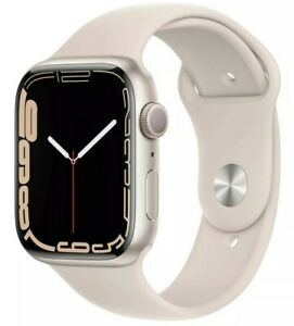 Apple Watch Series 7 45mm Aluminum Case with Sport Band Starlight White GPS - FS