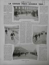 1904 VELO PARIS-ROUBAIX 268KM PELOTON TÊTE AUCOUTURIER GARIN