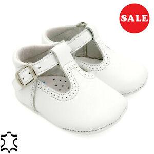 Echtleder Mädchen Säuglingschuhe Neugeborenen Leder Baby Schuhe MADE IN SPAIN 16