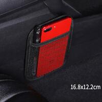 1x Auto String Bag Vehicle Storage Mesh Phone Pocket Seat Side Storage Organizer