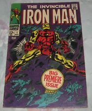 1968 Marvel Iron Man #1 Classic Cover, Origin Retold VG/FN 5.0
