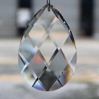 10/Pcs Clear Teardrop Loose Crystal Glass Beads Chandelier Ornaments Xmas Decor