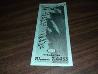 FEBRUARY 1959 METROPOLITAN COACH LINES LOS ANGELES LINES 36-38 PUBLIC TIMETABLE