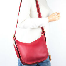 COACH MINT Red Leather Legacy Janice Shoulder Crossbody Bag #9950