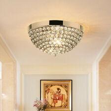 Gymax Crystal Light Fixture 3 Lights Flush Mount Ceiling Lamp Living Room