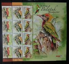 PART SHEET WITH PICTURES MALAYSIA 2013 WOODPECKER BIRDS MNH OG
