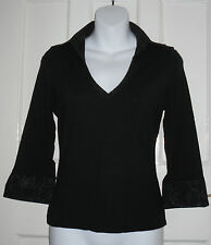 Collared Long Sleeve Waist Length Tops & Shirts Size Petite for Women