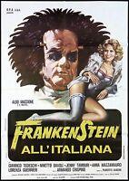 Frankenstein all'Italiana Manifesto Cinema Comedy Grim Reaper 1975 Movie Poster