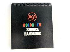RCA Color TV Service Handbook 1965 Spiral Bound Vintage Television Manual