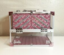 Caboodles X Barbie Train Case Neat Freak Pure Glam & On The Go White