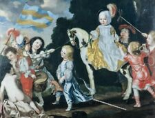 "stunning oil painting portrait handpainted on canvas ""children"" N14605"