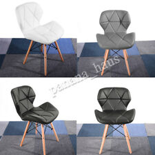 Eiffel Retro Style Dining Wooden Chairs Modern Designer Padded Seat Wood Legs UK