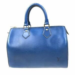 100% Authentic Louis Vuitton Epi Speedy 30 Blue Handbag M43005 [Used] {07-384B}