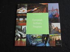 2001 Mercedes Benz European Delivery Brochure SL500 S600 E320 SLK230 CLK Catalog