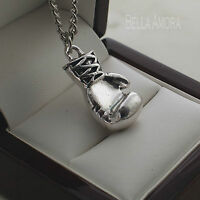 """Mens Stainless Steel Boxing Glove Pendant 20"""" Chain Necklace New UK -208"""
