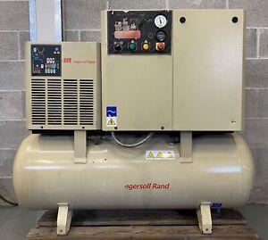 Ingersoll-Rand R5.5IU Receiver Mounted Rotary Screw Compressor + Dryer! 22Cfm!