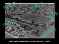 OLD 8x6 HISTORICAL PHOTO OF THE WESTERN OVAL FOOTSCRAY FC HOME GROUND c1930s