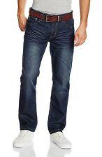 Mens Crosshatch Farrow Dark Wash Jeans in Denim From Get The Label 34r NEWFARROWDWDNM204