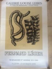 Rare Original 1981 Poster Advertising Paris Gallery Art Exhibition Fernand Leger
