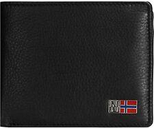 Portafoglio Napapijri Uomo Men Wallet Mandal Billfold N4U02 portamonete Nero