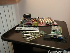Kit scheda madre CPU RAM VIDEO MSI W6330MS AMD Athlon XP1600+ 256MB VGA CNR