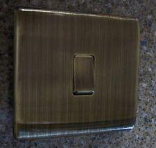 10 Amp Antique Brass Single 1 Gang 2 Way Light Switch Screwless