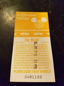 Vintage 1990 Walt Disney World Parking Pass Ticket Stub