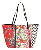 Desigual Damen Handtasche Henkeltasche Umhängetasche Tasche Blume 18WAXP69-3000