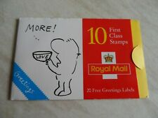 Gb stamp booklet greetings 9th series cartoons