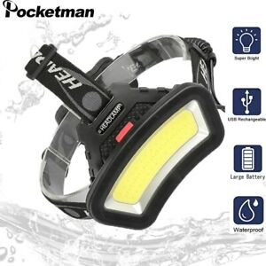 50000LM COB LED Headlight Head Lamp USB Rechargeable Lantern For Outdoor Hike
