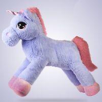 80cm Giant Unicorn Plush Gift Girls Soft Stuffed Large Cuddly Animal Pony Toy UK