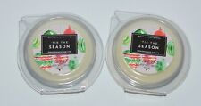 LOT OF 2 BATH & BODY WORKS TIS THE SEASON WAX MELTS TART WHITE BARN CANDLE NEW