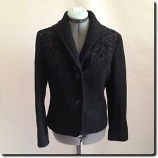 Ellen Tracy Black Wool Blazer with Layered Detailing Jacket  6