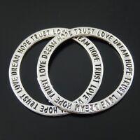 40pcs Tibetan silver 18MM circle ring charm EF1300