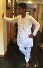 "36"" S 90cm Cotton Sherwani Suit Indian Bollywood Mens Kurta Kurtha White HH30"
